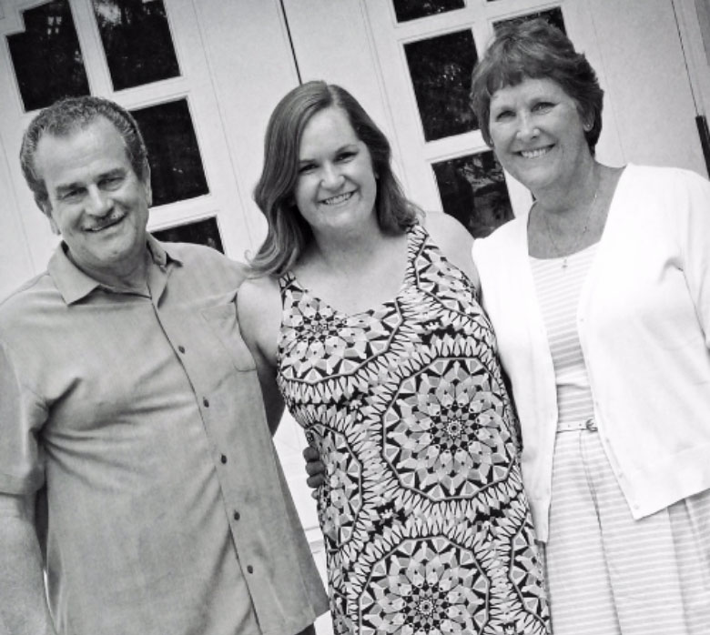 Jenna with her Dad and Mom